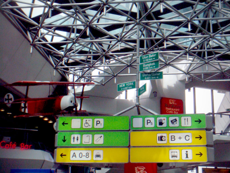 Signpost / Pictograms at Airport Tegel