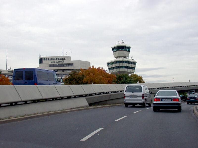 Approaching Berlin Tegel Airport