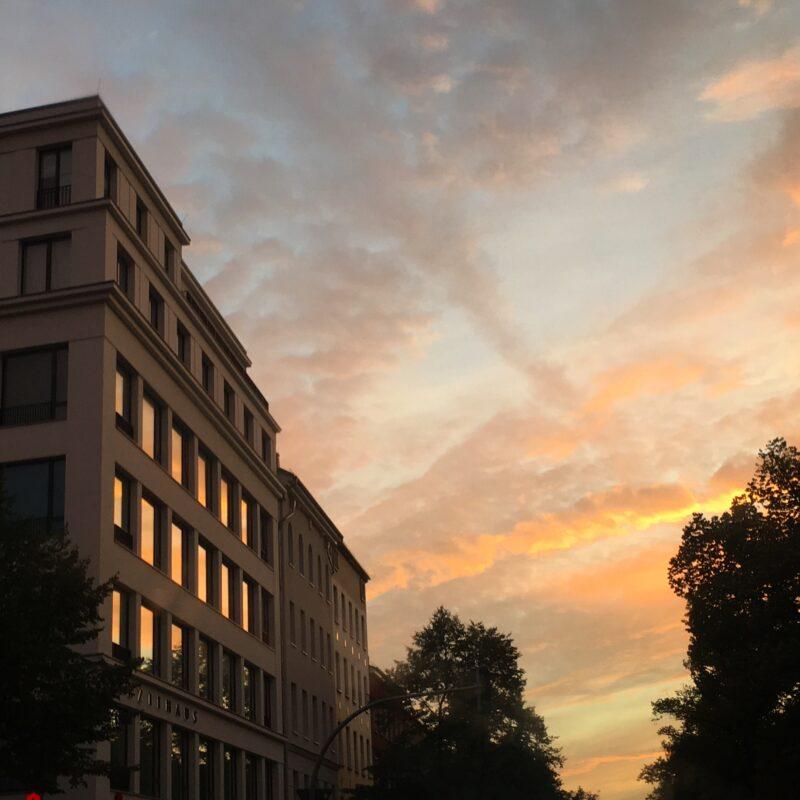Sunset at Berlin Brunnenstrasse / Usedomer Strasse