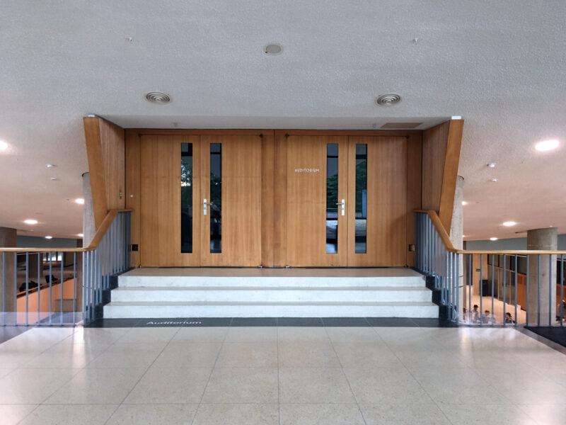 Auditorium doors of Berlin HKW Haus der Kulturen der Welt