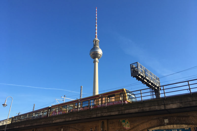 Berlin Mitte TV-Tower and S-Bahn