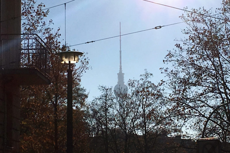 Berlin TV Tower in November