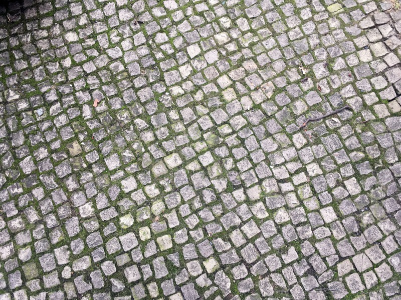 Berlin cobblestone pavement