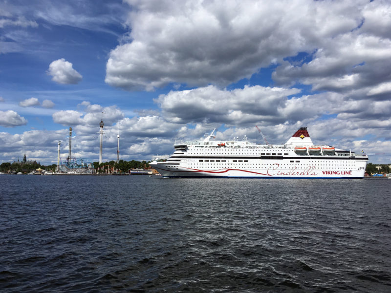 Cruiseferry Cinderella arriving at Stockholm