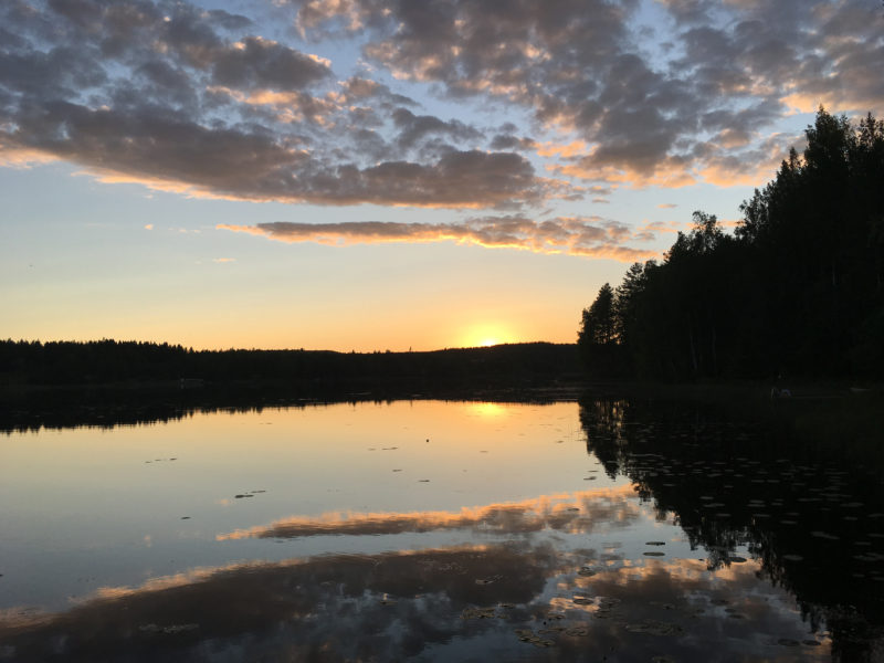 Summer in Finland - Sunset by the Lake