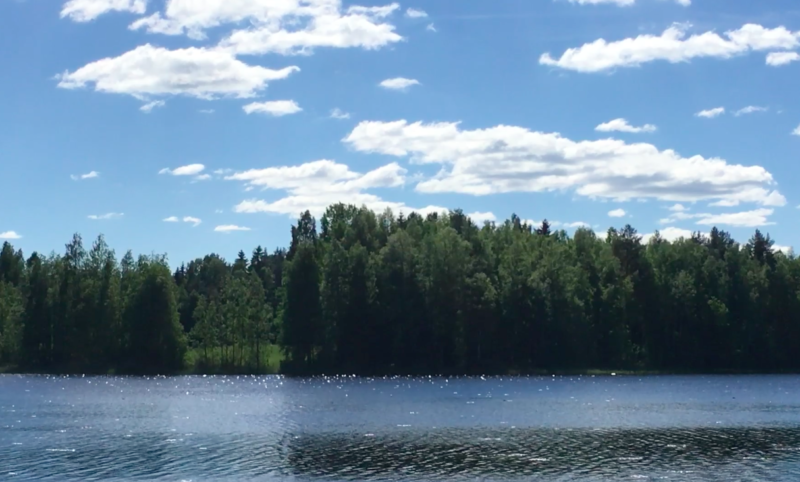 Finland Summer Lake View Video loop