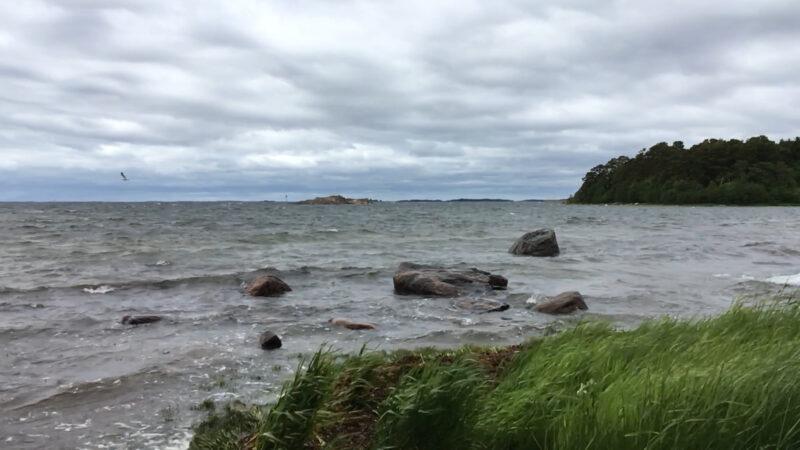 Hanko Stormy Sea with Rocks