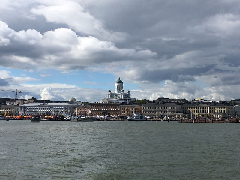Helsinki Cathedral and Market Square as seen from the Sea
