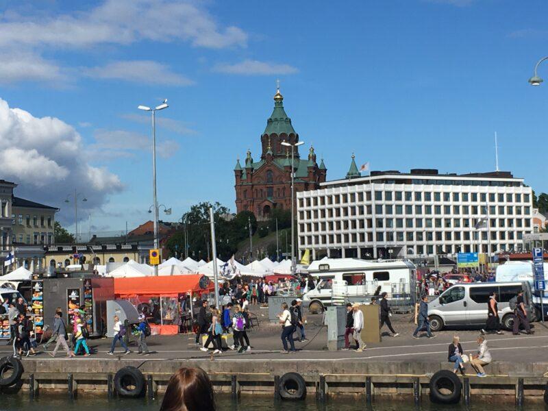 Helsinki: Uspenski Cathedral and Market Square