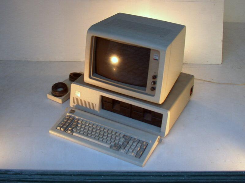 IBM PC with modem