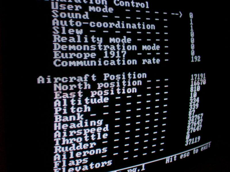 MS Flight Simulator Settings screen