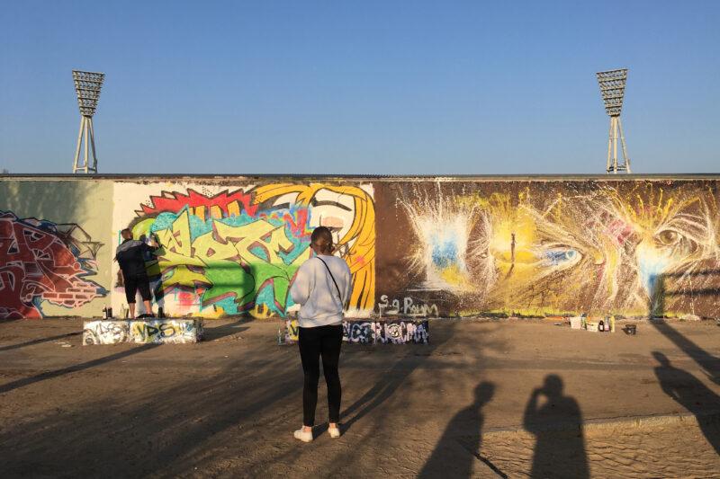 Mauerpark Berlin Graffiti Wall