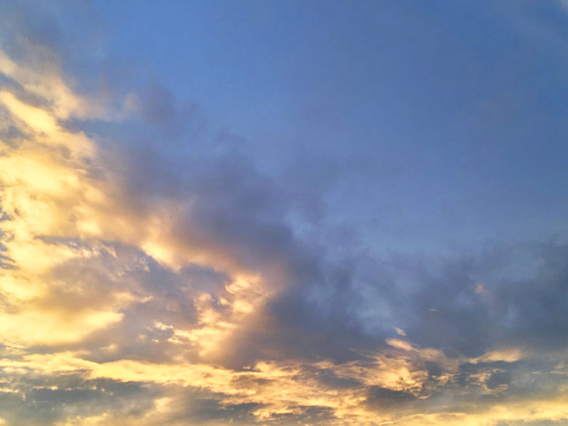 Orange Clouds, Blue Sky