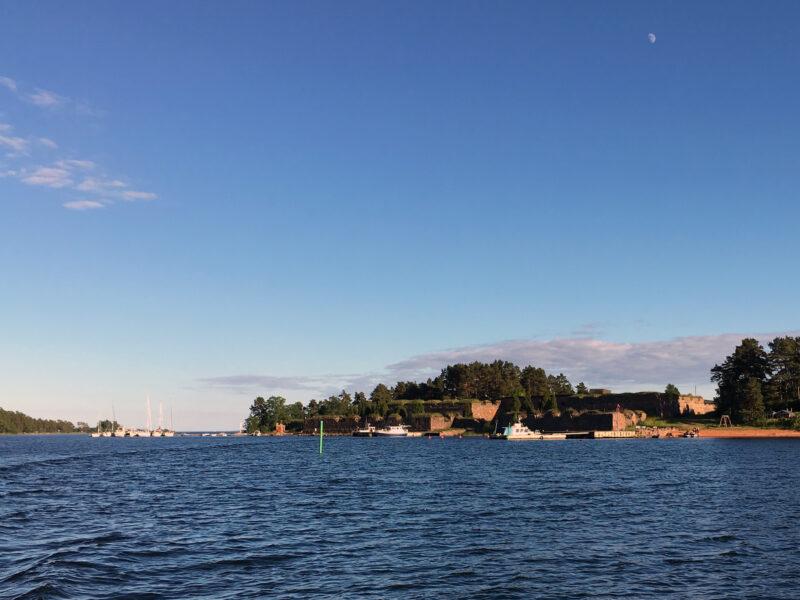 Svartholma Sea Fortress from a Distance
