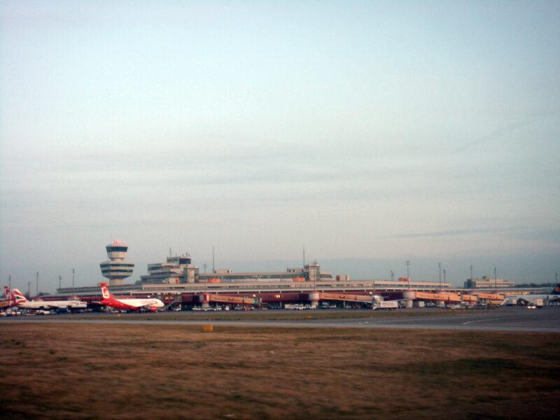 Berlin » Tegel Airport seen from Runway