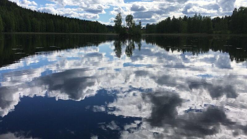 Äänekoski Island in the middle of the Lake