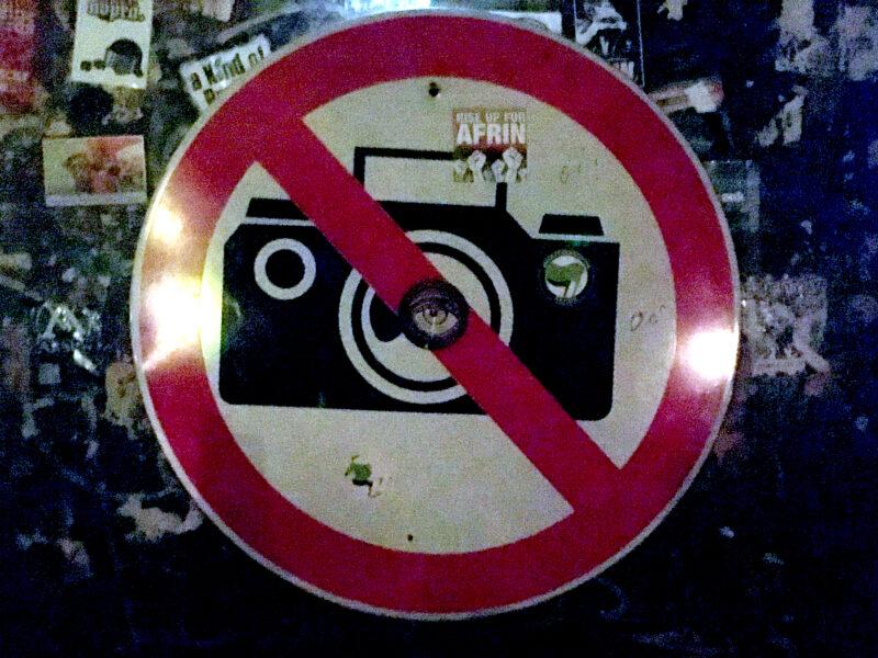 no photo sign