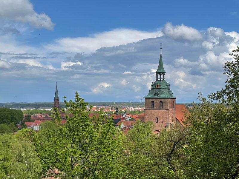 Lüneburg: Kalkberg Panorama, St Michaelis Church